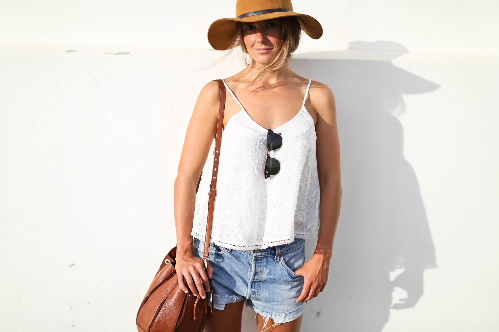 Clochet_streetstyle_levis_501_vintage_shorts_leather_fedora_hat-9