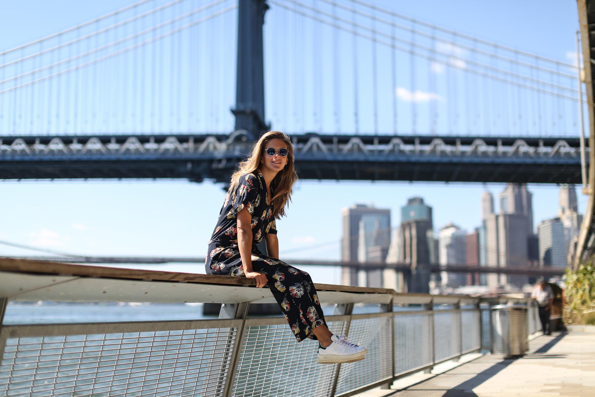 Clochet_streetstyle_nyfw_newyorkfashionweek_zara_floral_jumpsuit_adidas_stansmith
