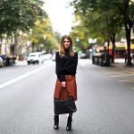 Filippa K leather skirt