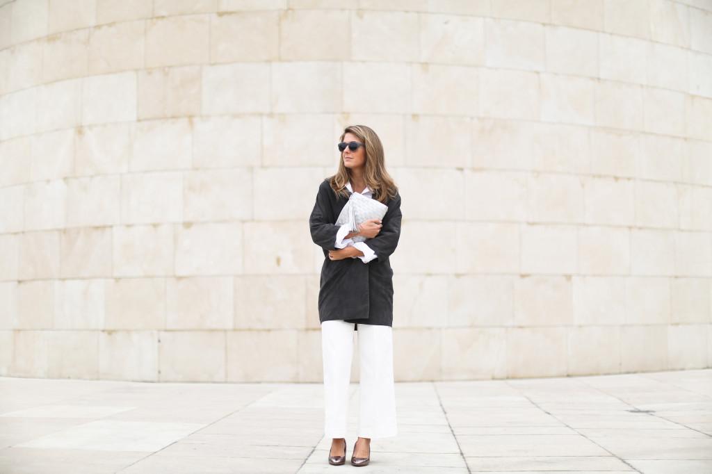 Boxcalf grey suede jacket