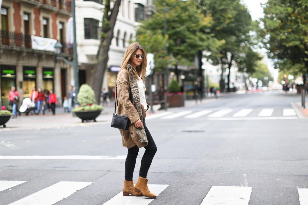 Boxcalf reversible fur coat