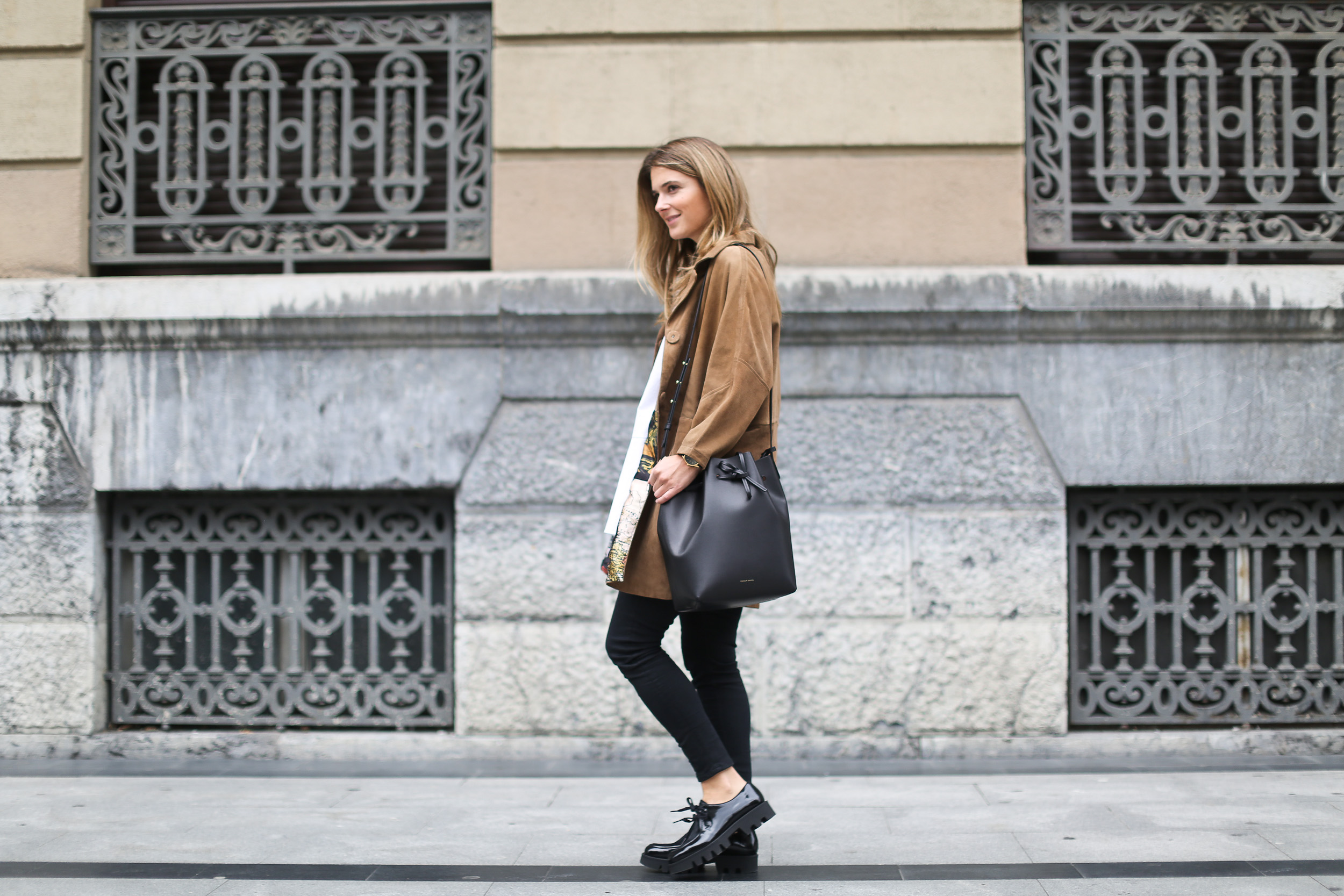 Clochet_streetstyle_boxcalf_chaqueta_ante_platform_brogues_masur_gavriel_bucket_bag