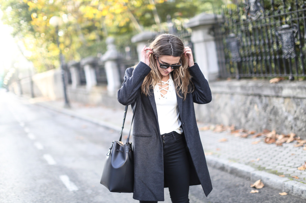 Eseoese Bardot wool coat