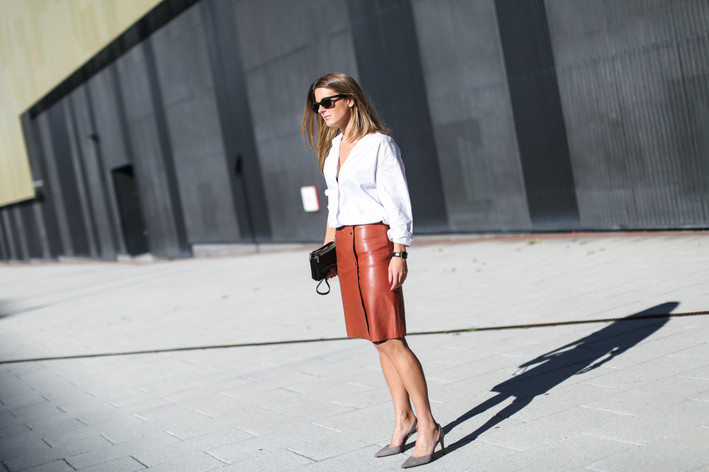 Filippa K leather skirt