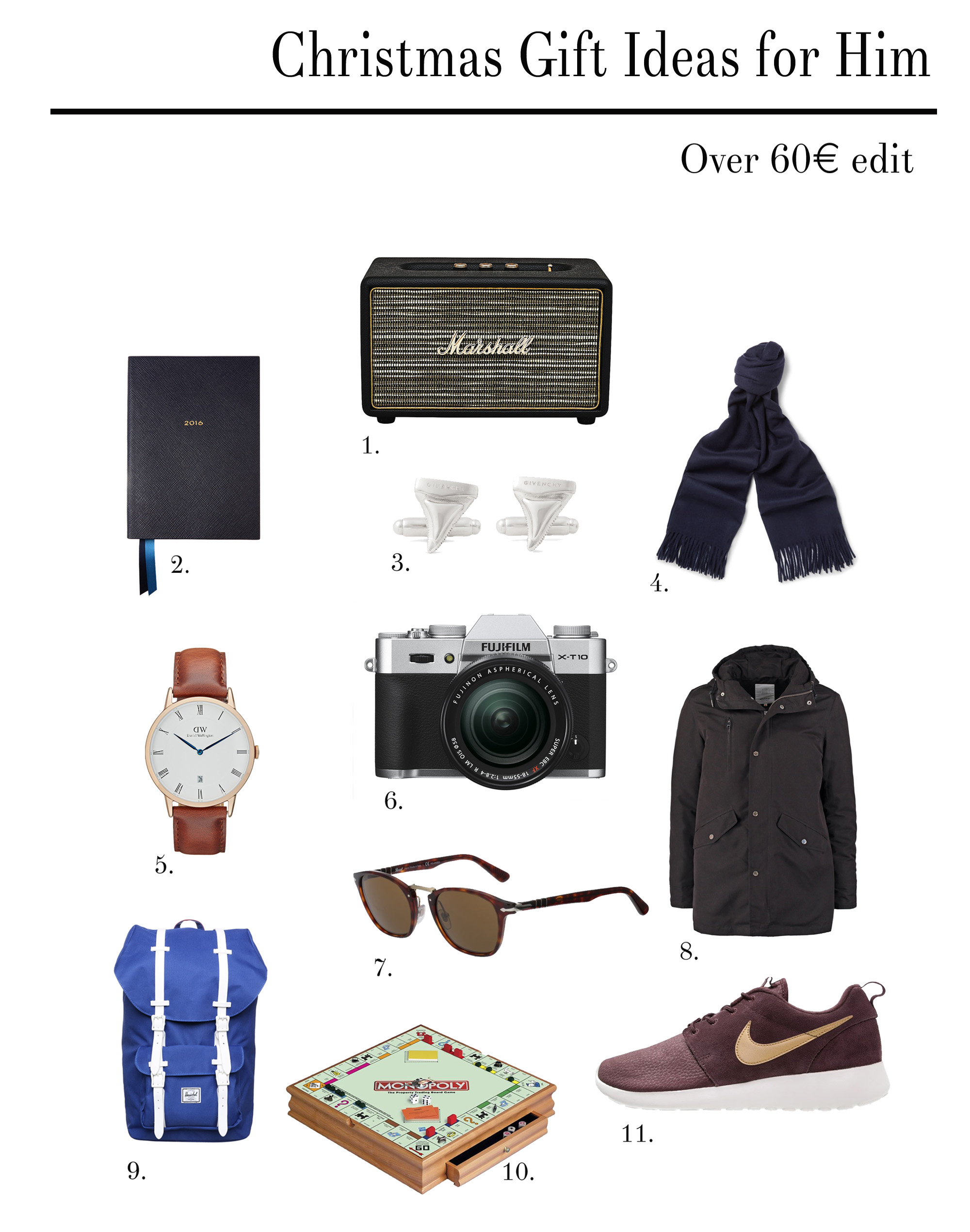 Clochet Gift Ideas For Him Over 60euro Asos H M Jcrew Birthday 60 Year Old Men