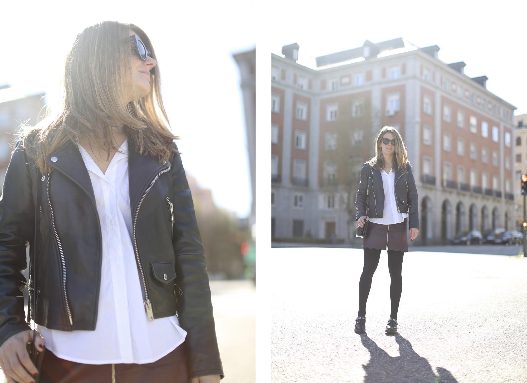 Clochet_streetstyle_maxandCo_leatherminiskirt_h&mtrend_blouse_sandroparis-brogues-14