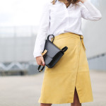 Iris&Ink suede skirt for The Outnet