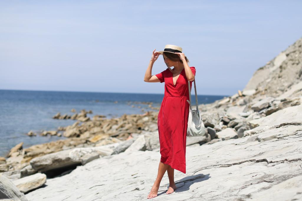 Masscob red midi dress