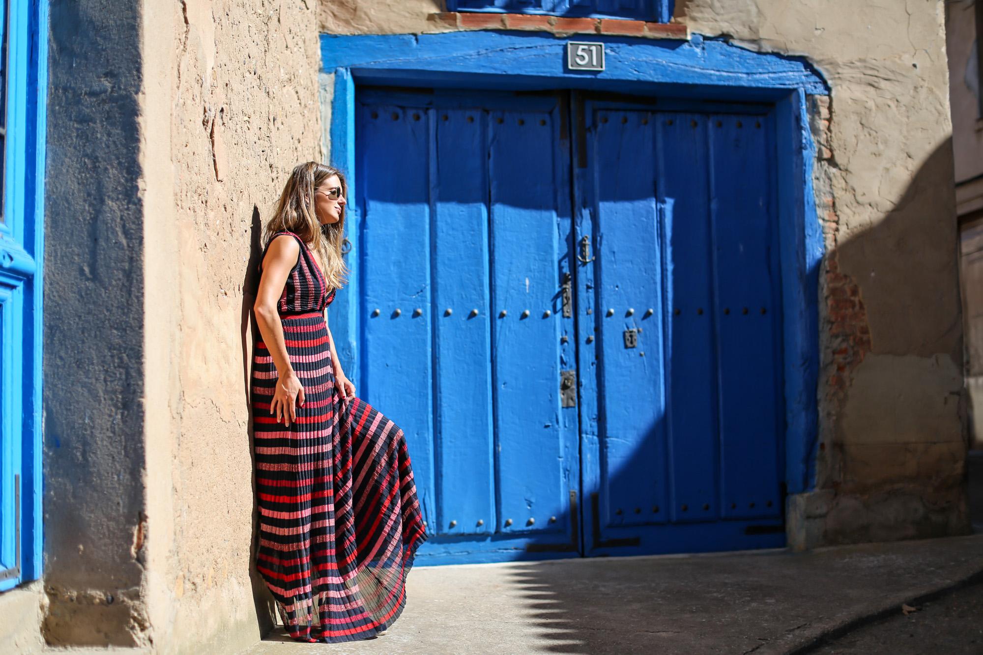 clochet_streetstyle_zara_long_knit_dress_titamad_miniparadisred