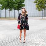 Zara embroided dress