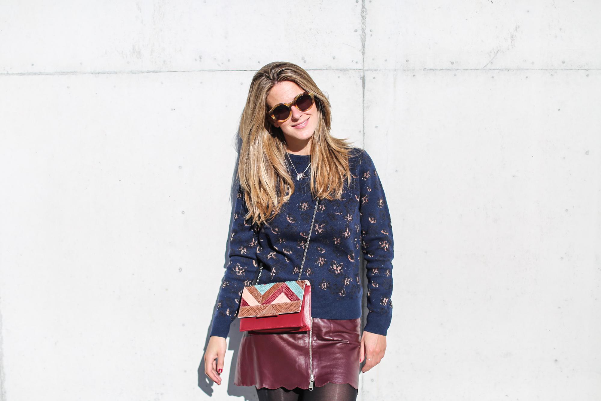 Clochet_fashionblogger_streetstyle_andotherstories_metallicflowersknit_heroscarf_leatherminiskirt-10