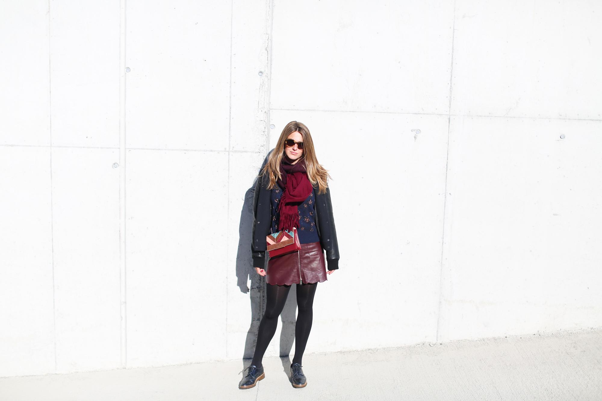 Clochet_fashionblogger_streetstyle_andotherstories_metallicflowersknit_heroscarf_leatherminiskirt-3