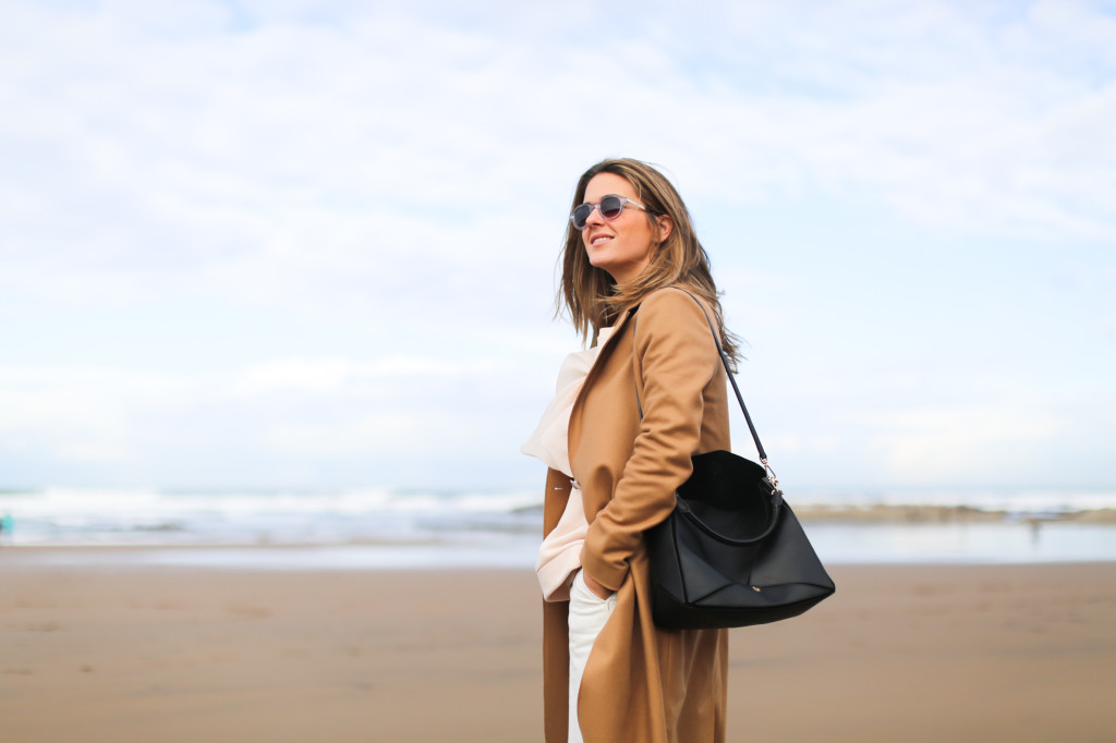 &other stories camel coat