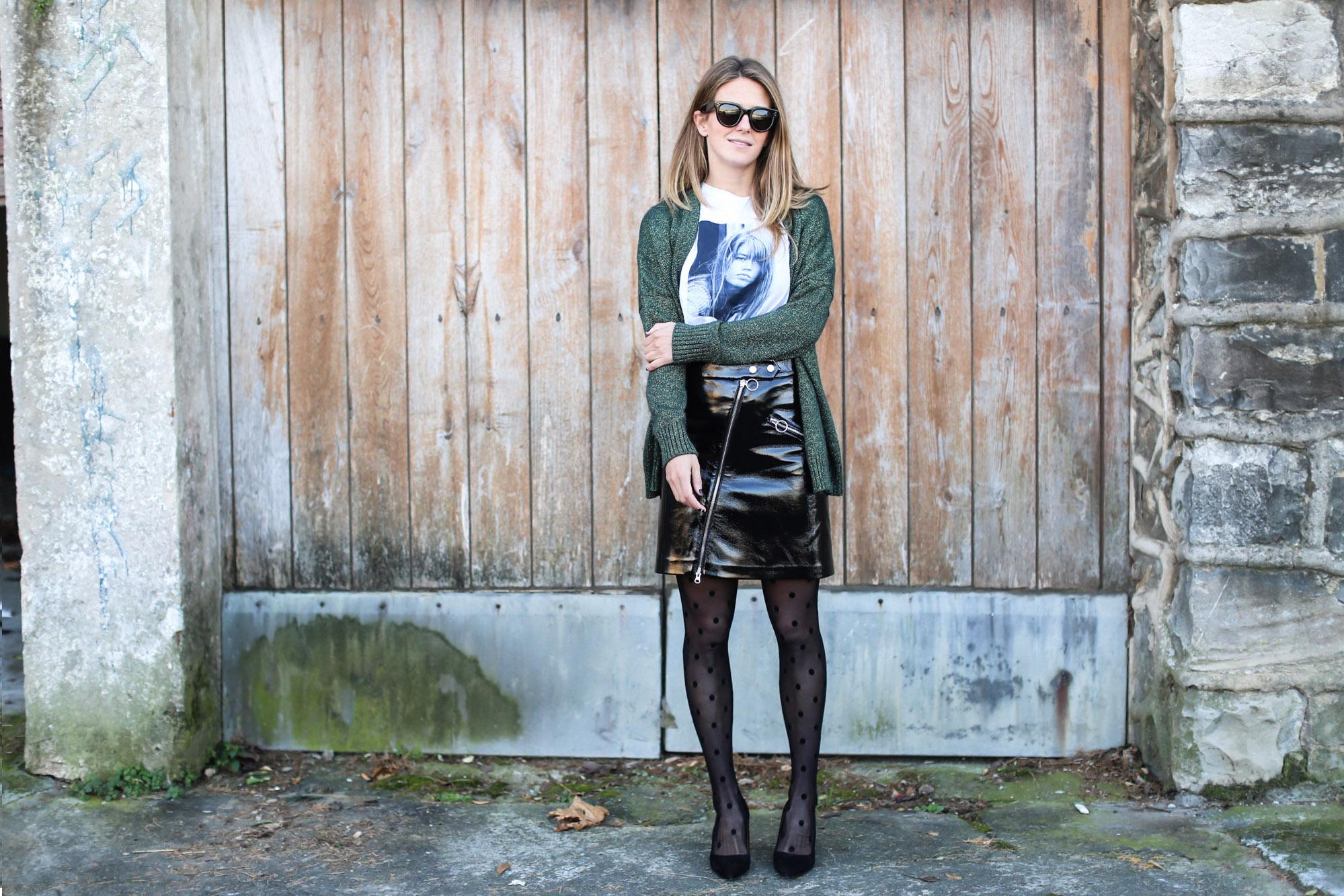 clochet_streetstyle_fashionblogger_minifaldarockeracharolzara_camiserahardypromod_abrigolargolanacos-3