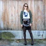 Minifalda de charol de Zara