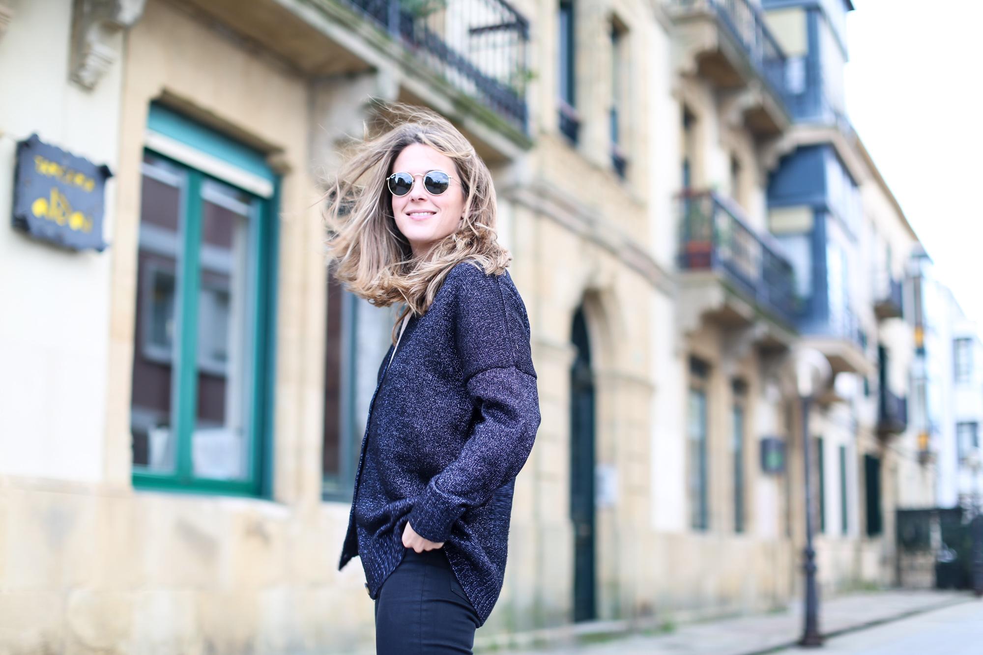 Clochet_streestyle_fashionblogger_topshopjamiejeans_zaranavyglitterknit_furcoat-5