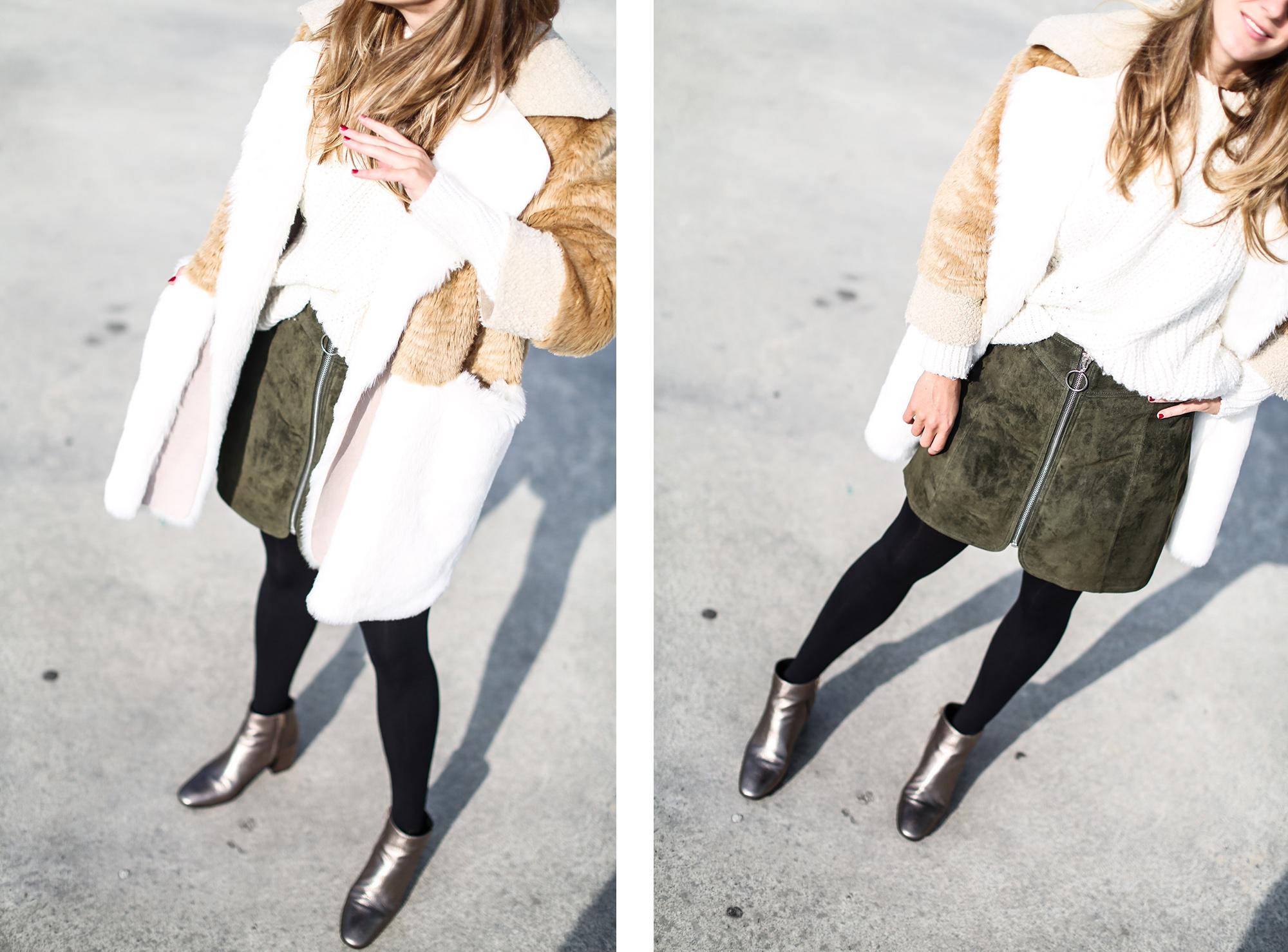 Clochet_streetstyle_fashionblogger_asosfauxfurcoat_minifaldaantezara_botinespieldorados-11
