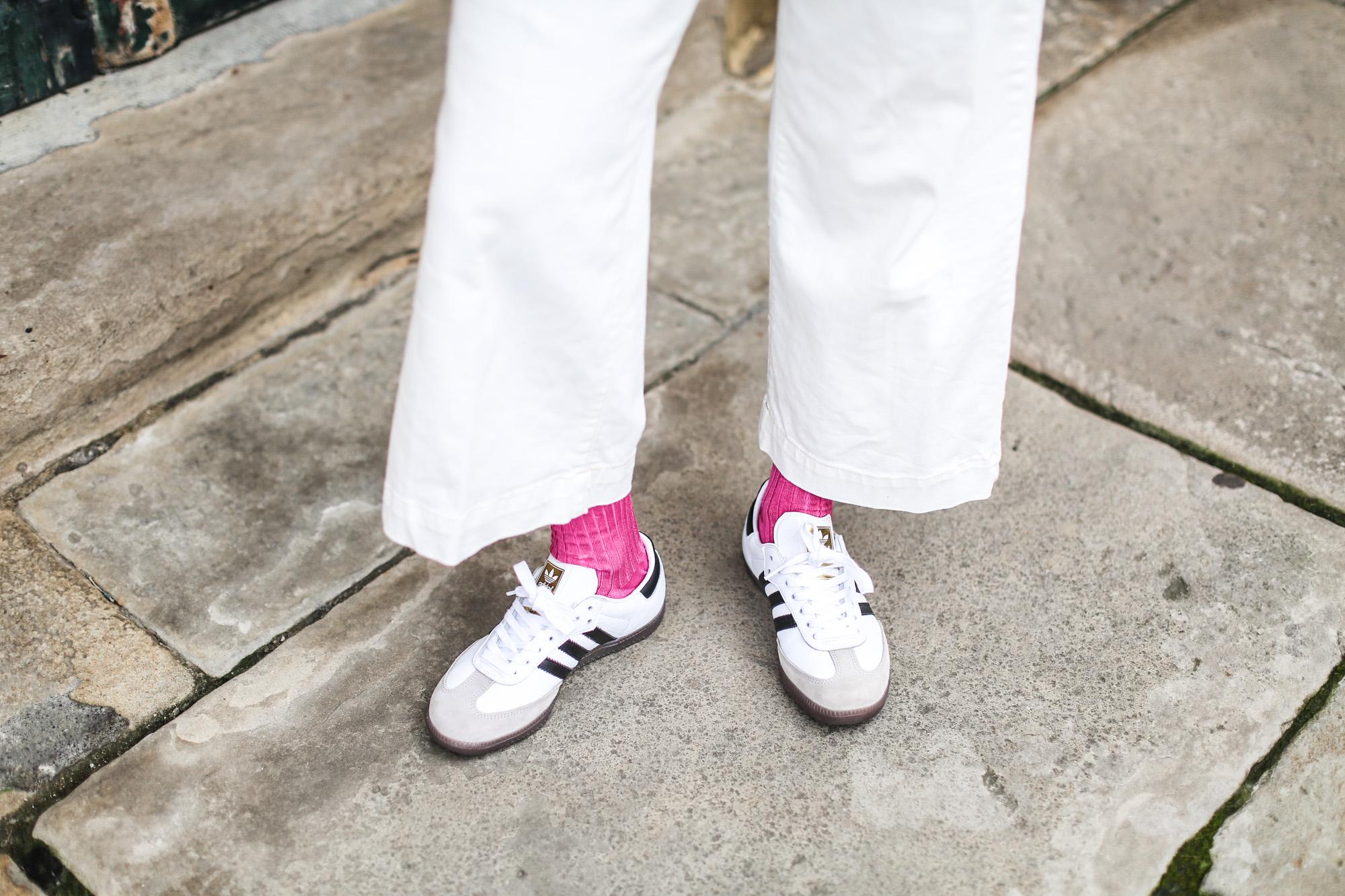 clochet adidas samba blancas