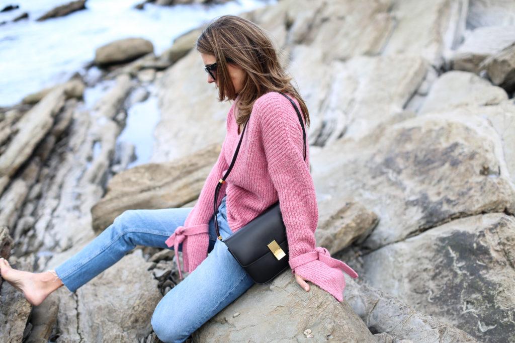 Jersey rosa manga campana