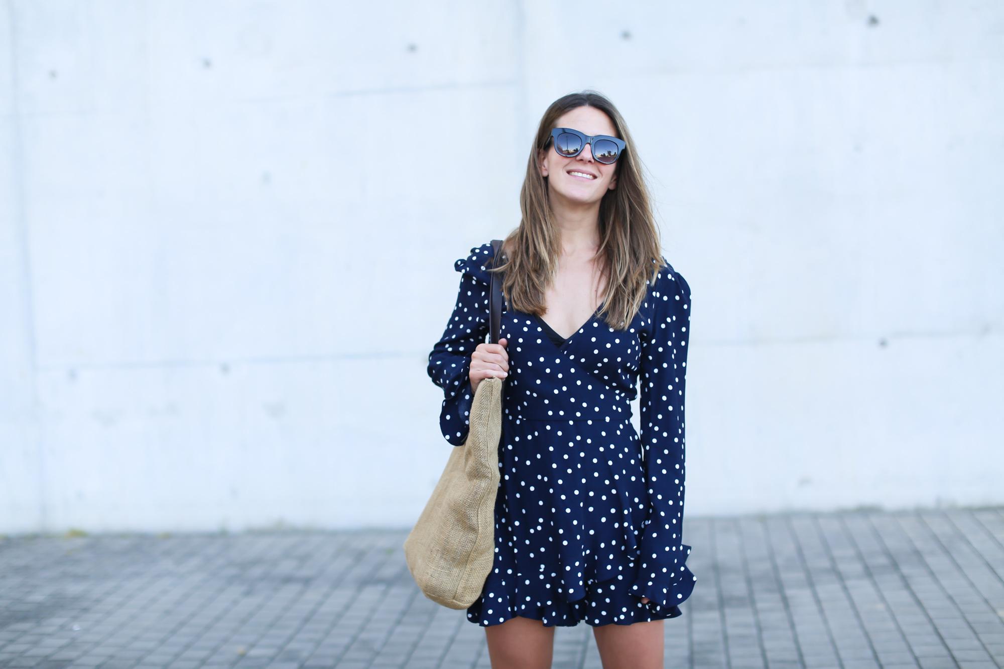 precio bajo mejores zapatillas de deporte rendimiento confiable Mono corto lunares Zara   look zara   Zara - Blog de moda ...