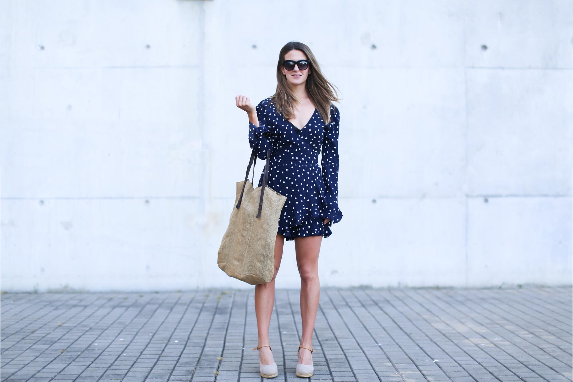 Mono corto lunares Zara   look zara   Zara - Blog de moda