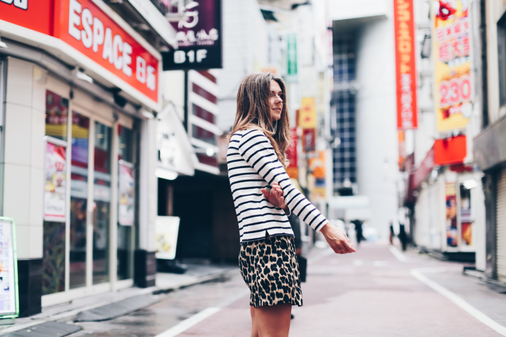 Mini shorts estampado leopardo en Shibuya