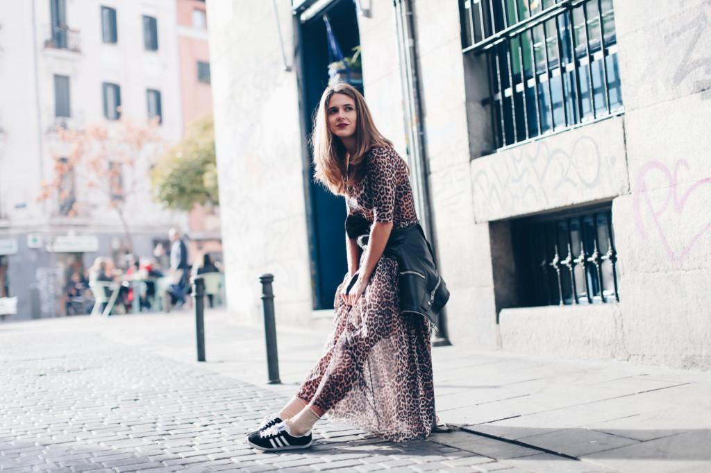 Ganni Tilden leopard maxi dress
